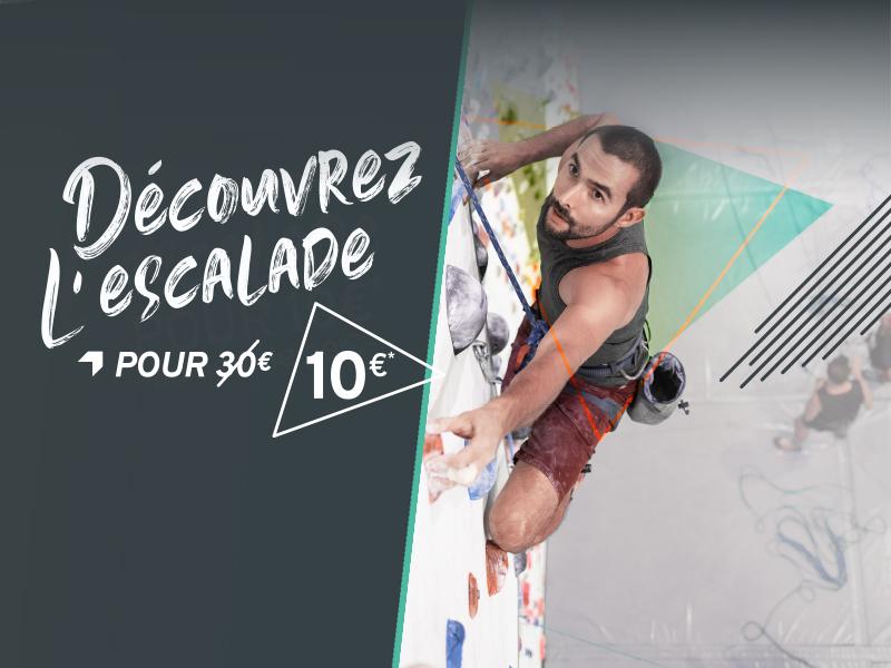 Cours découverte escalade à 10€ à Climb Up Caen